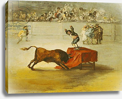Постер Падилья Евгенио Martincho's Other Folly in the Bull Ring at Saragossa, after a painting by Francisco Goya