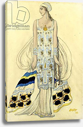 Постер Бакст Леон Costume design for Ida Rubinstein in the play 'Phaedra' by Jean Racine, 1923
