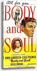 Постер Film Noir Poster - Body And Soul