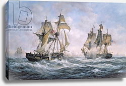 Постер Уиллис Ричард Action Between U.S. Sloop-of-War