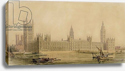 Постер Барри Чарльз Perspective View of the new Houses of Parliament, c.1840s