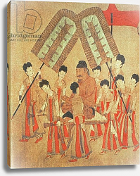 Постер Школа: Китайская Yongle Emperor, facsimile of original Chinese scroll