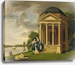 Постер Зоффани Йоханн David Garrick and his Wife by his Temple to Shakespeare at Hampton, c.1762