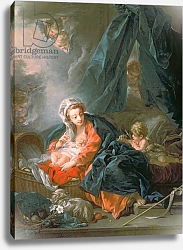 Постер Буше Франсуа (Francois Boucher) Madonna and Child, 18th century