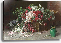 Постер Грэйвз Эббот Basket of Roses, c.1890