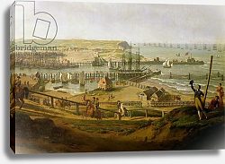 Постер Хью Жан-Франсуа Napoleon Visiting the Camp at Boulogne in July 1804, detail of the port, 1806