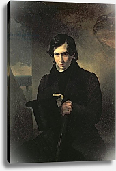 Постер Брюллов Александр Portrait of the Russian author Nestor Kukolnik, 1836