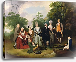 Постер Уитли Франсис The Oliver and Ward Families in a Garden, c.1788