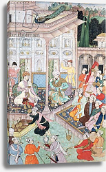 Постер Школа: Индийская Meeting between Babur and Bedi Az Zaman Mirza, 16th-17th century