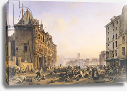 Постер Бьюм Жозеф Attack on the Hotel de Ville, 28th July 1830