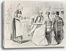 Постер Bar. Created by Pauquet and Dutheil, published on L'Illustration, Journal Universel, Paris, 1868