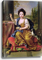 Постер Мигнар Пьер Marie-Anne de Bourbon Mademoiselle de Blois, Blowing Soap Bubbles