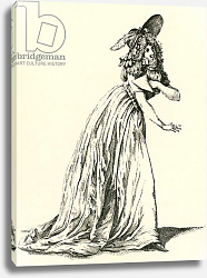 Постер Women's fashion during the French Revolution, published 1909.