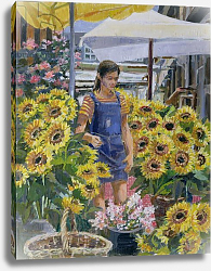 Постер Лоундс Розмари (совр) The Sunflower Seller
