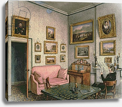 Постер Бест Мари Col. Norcliffe's study at Langton Hall, c.1837