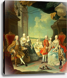 Постер Мейтенс Мартин Maria Theresa and her Husband at the staircase