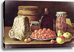 Постер Мелендез Луи Still Life with Fruit and Cheese
