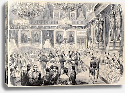 "Постер Grand Bal in Tuileries Palace. Original, after drawing of G. Durand, published on ""L'Illustration, J"
