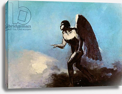 Постер Редон Одилон The Winged Man or, Fallen Angel, before 1880