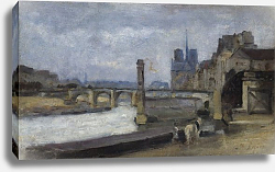 Постер Лепайн Станислас The Pont de la Tournelle, Paris