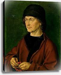 Постер Дюрер Альбрехт Portrait of the Artist's Father, 1490