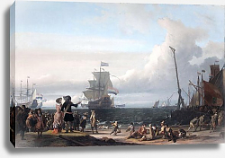 Постер Dutch ships in the roadstead of Texel