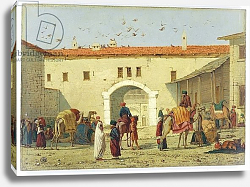 Постер Дэдд Ричард Caravanserai at Mylasa, Turkey, 1845
