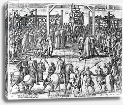 Постер Хогенберг Франц (карты) Scenes of hanging in the Flanders, 1570