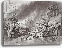 Постер Вест Бенджамин The Battle of La Hogue, Destruction of the French fleet, May 22, 1692