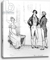 Постер Томсон Хью (грав) 'She is tolerable', illustration from 'Pride & Prejudice' by Jane Austen, edition published in 1894