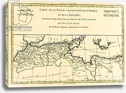 Постер Бонне Чарльз (карты) North Africa, including the Kingdoms of Tripoli, Tunis, Alger; Fez and Morocco, 1780