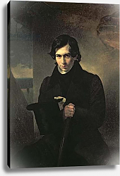Постер Брюллов Александр Portrait of the Russian author Nestor Kukolnik, 1836 1
