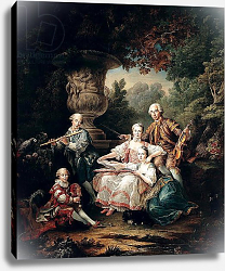 Постер Друаис Франсис Louis du Bouchet Marquis de Sourches and his Family, 1750