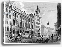 Постер Нокс Джон View of The Town Hall, Exchange, Glasgow, engraved by Joseph Swan, 1828