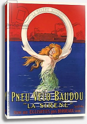 Постер Капиелло Леонетто Poster advertising 'La Sirene' bicycle tires manufactured by Pneu Velo Baudou, c.1920