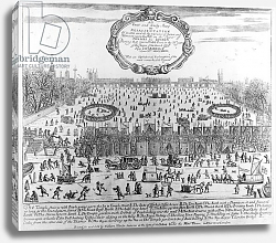 Постер Школа: Английская, 17в. The Frost Fair of the winter of 1683-84 on the Thames, with Old London Bridge in the Distance