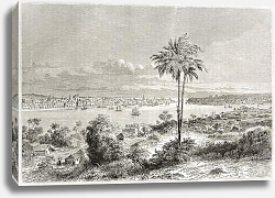 Постер Havana old view, Cuba. Created by Lancelot, published on Le Tour du Monde, Paris, 1860
