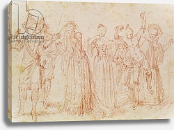 Постер Ватто Антуан (Antoine Watteau) Group of Comic and Tragic Actors