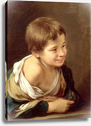 Постер Мурильо Бартоломе A Peasant Boy Leaning on a Sill, 1670-80