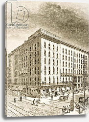Постер Школа: Английская 19в. The Sherman Hotel, Chicago, in c.1870, from 'American Pictures', 1876