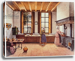 Постер Бест Мари Kitchen of the Zwijnshoofd Hotel at Arnhem, 1838