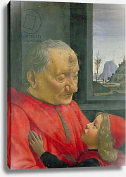 Постер Гирландайо Доменико An Old Man and a Boy, 1480s