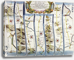 Постер Огилби Джон (карты) Road from Whitby to Durham, from John Ogilby's 'Britannia', published London, 1675