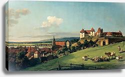 Постер Беллотто Бернардо Вид Пирны от замка Зонненштайн