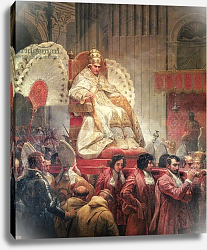 Постер Верне Эмиль Pope Pius VIII in St. Peter's on the Sedia Gestatoria, 1829