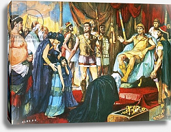 Постер Салинас Альберто Alexander the Great receiving Darius's wife, mother and daughters