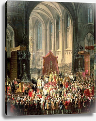 Постер Мейтенс Мартин The Coronation of Joseph II as Emperor of Germany in Frankfurt Cathedral, 1764