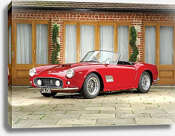 Постер Ferrari 250 GT SWB California Spyder (open headlights) '1960–63