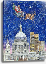 Постер Бредбери Катрин (совр) Father Christmas Flying over London