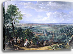 Постер Мюлен Адам Louis XIV at the Siege of Lille facing the Priory of Fives, August 1667, c.1685